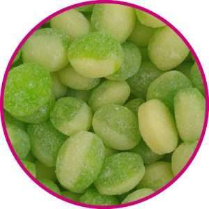 close up of apple and custard sweets