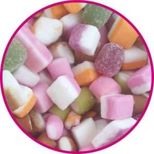 close up of dolly mixture