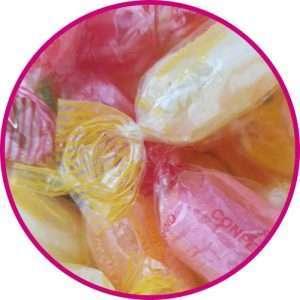 close up of fruity sherberts