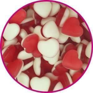 close up of heart throb sweets