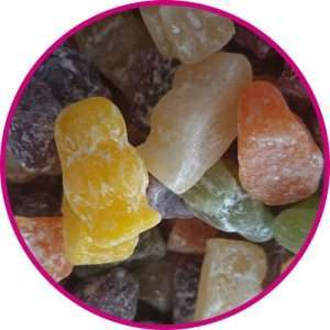 close up of jelly babies