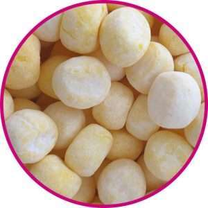 close up of lemon bon bons